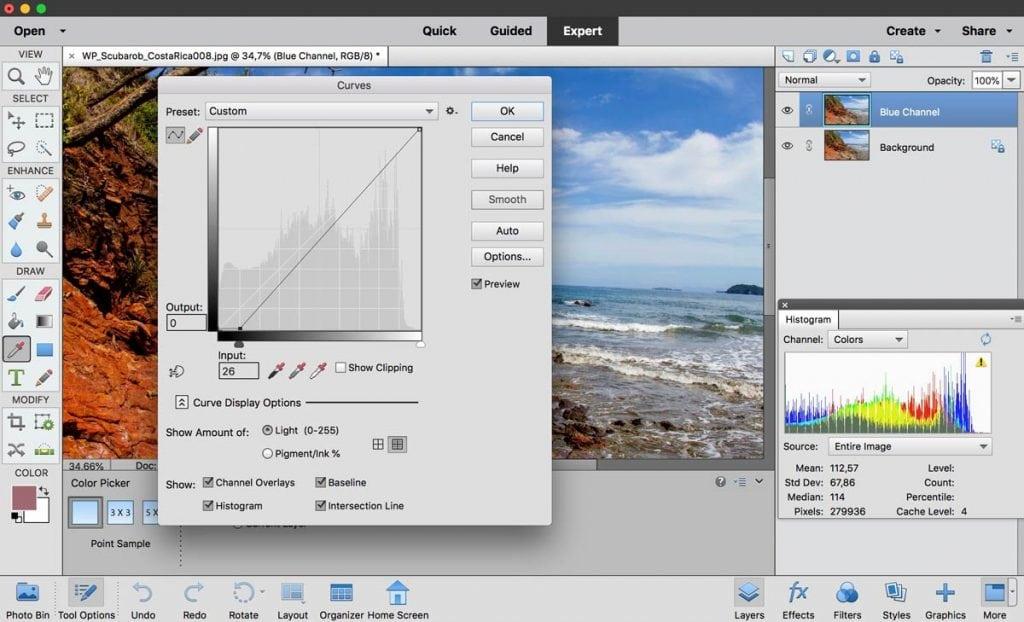 Photoshop histograms