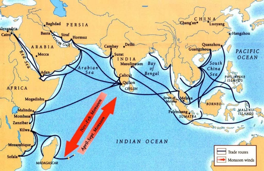 India trade routes - sacred geographies